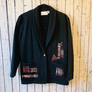 Handpainted Arizona Jones Super Soft Blazer- Sz XS